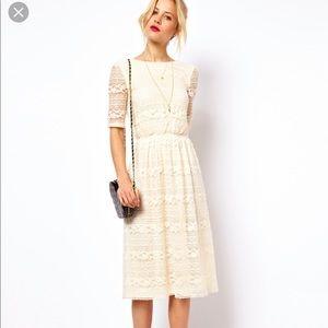 ASOS | lace midi dress
